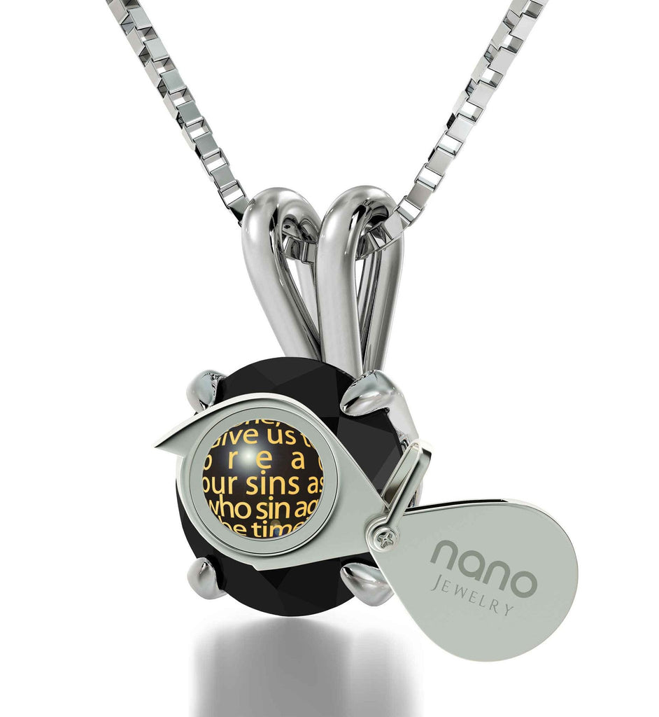 """Lord's Prayer Necklace, Special Gifts for Sisters, Womens Pendant, Jewelry with Meaning, Nano"""