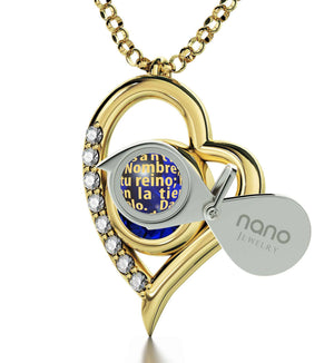 """Lord's Prayer Pendant on Gold Filled Chain, Special Gifts for Sisters, Valentines Ideas for Her, Nano Jewelry"""