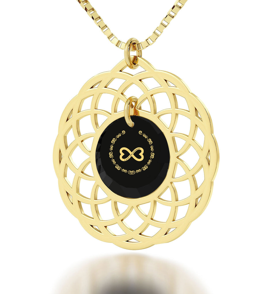 """Love You Always"" 24k Gold Jewelry, Top Gifts for Wife, Wife Birthday Ideas, by Nano"
