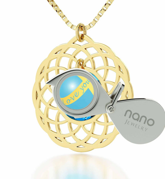 "Love You Always"" Dainty Gold Necklace, Best Valentine Gift for Wife, Valentines Ideas for Wife, by Nano Jewelry"