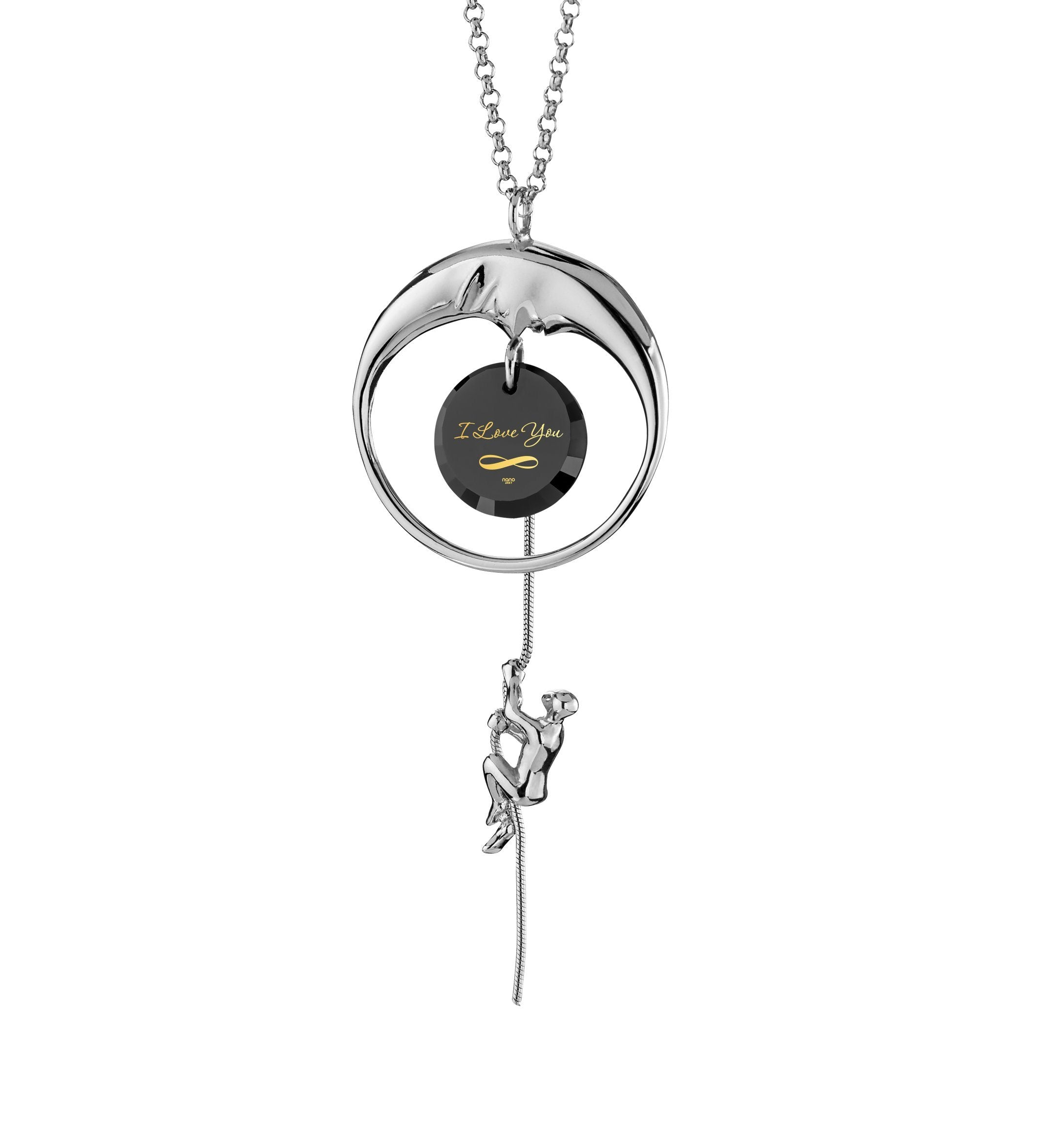Love You to the Moon and Back Gifts: Valentines Day Ideas for Her, Cute Presents for Girlfriend, Solid Silver Necklace