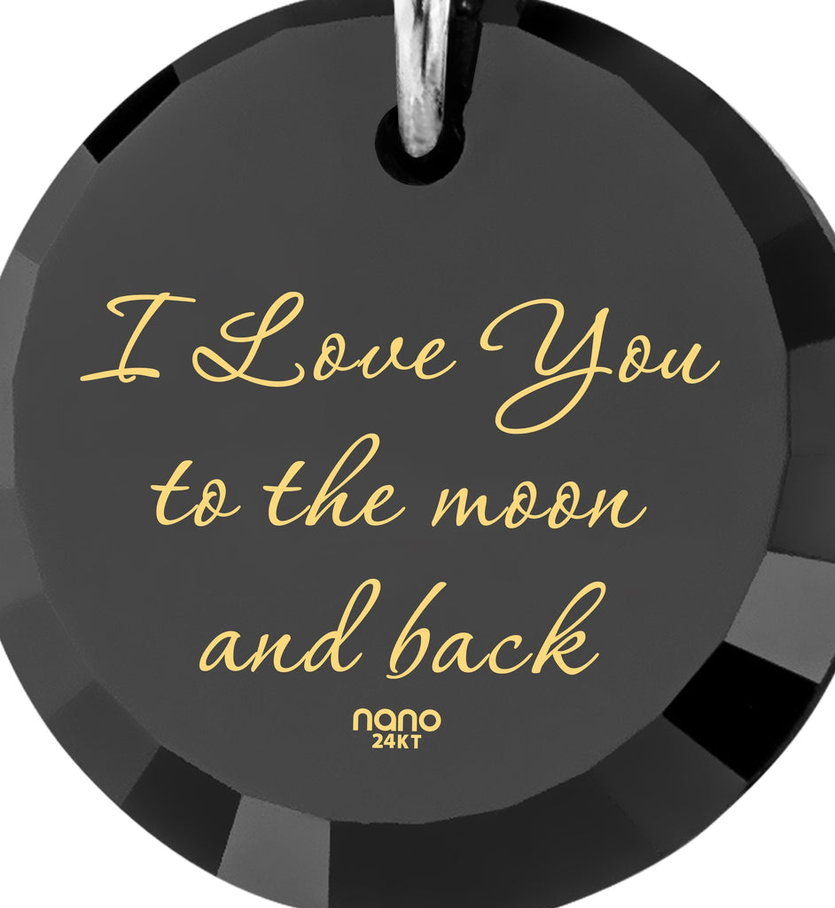 Good Valentines Day Gifts for Girlfriend: I Love You to the Moon and Back - Climber - 925 Sterling Silver - Nano Jewelry