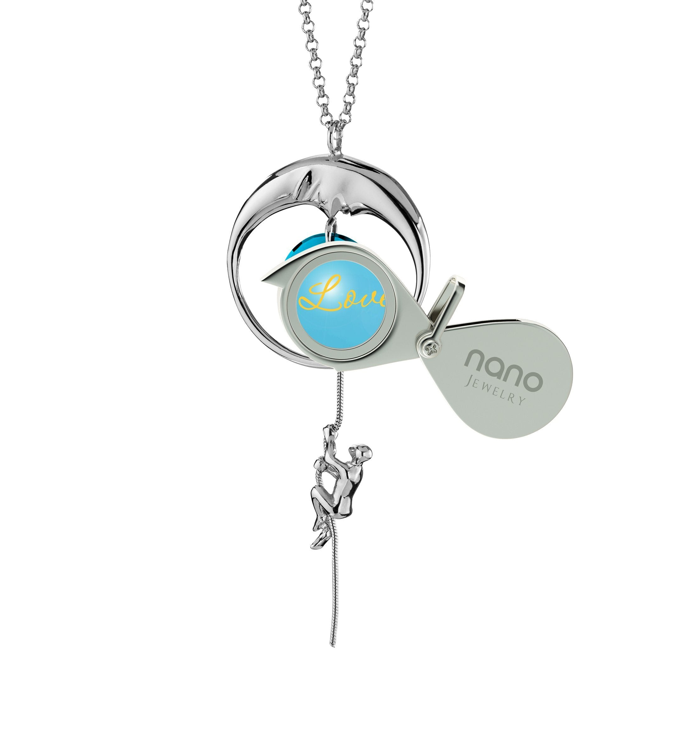 Love You to the Moon and Back Necklace: What to Buy My Girlfriend for Christmas, Wife Gift Ideas, Nano Jewelry