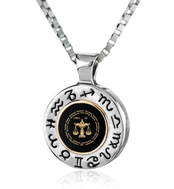 Man Gifts for Christmas: Libra Male Characteristic Silver Jewelry, Valentines Day Presents for Him, by Nano