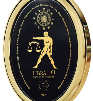 Man Gifts for Christmas: Libra Traits, Zodiac Sign Necklace, Valentines Presents for Him by Nano Jewelry