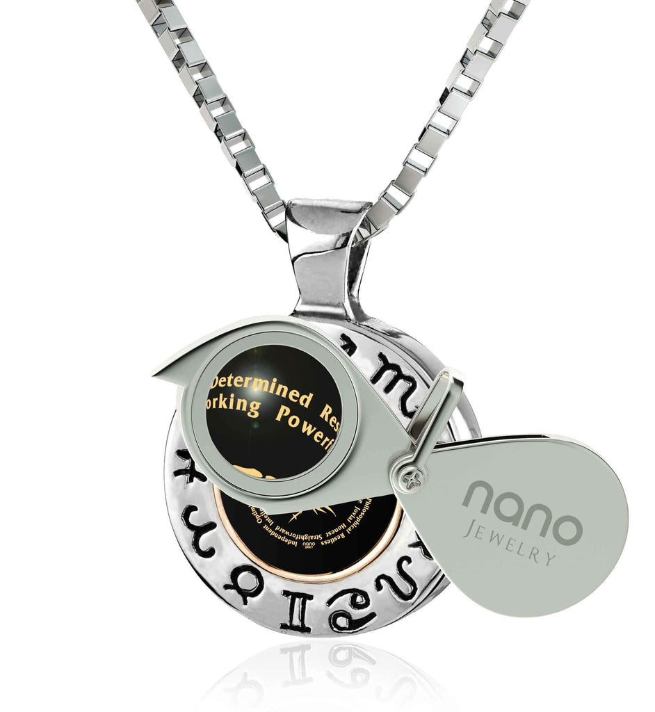 Man Gifts for Christmas: Sagittarius Traits Cool Necklace, Good Presents for Boyfriends, Nano Jewelry