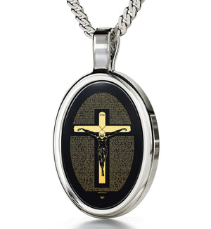 """Matthew27:2-51Engravedin24k, GodparentGifts, Presents for Teachers, BlackStoneNecklace, NanoJewelry"""