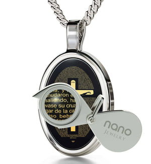 """Matthew27:2-51EngravedinSpanish, ChristmasPresents for BestFriends, BirthdayGift for Boss, OnyxJewelry"""