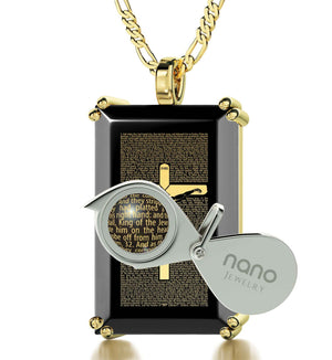 """Matthew27:2-56EngravedinPendant, CutePresents for Boyfriend, BestAnniversaryGifts for Him, NanoJewelry"""