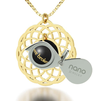 """Messianic Jewelry With Romans 11,19 Imprint. Gifts for Best Friend Woman. Amazing Christmas Presents. Black Onyx Necklace """