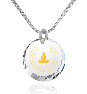 """MettaWomanEngraved in 24k, BuddhistJewellery with CZ Stone, BuddhistMantras, NanoJewelry"""