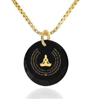 """Loving-Kindness Meditation"", Gold Filled Necklace, Zirconia"