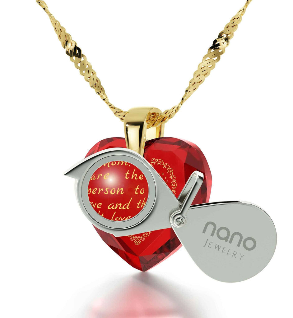 Mom Birthday Gifts, Mother's Day Ideas, Engraved in 24k Gold, Cool Presents for Christmas, by Nano Jewelry