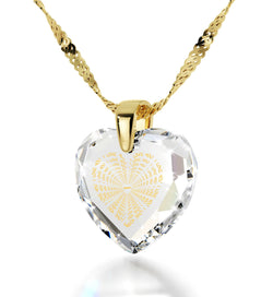 "Necklaces for Women,""I Love You"" Necklace, Clear CZ Jewelry, Best Valentine Gift for Her"