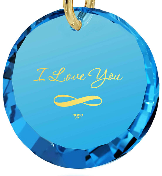 "Top Gifts for Wife,""I Love You Infinity"" 24k Imprint, Creative Birthday Ideas for Girlfriend, Nano Jewelry"