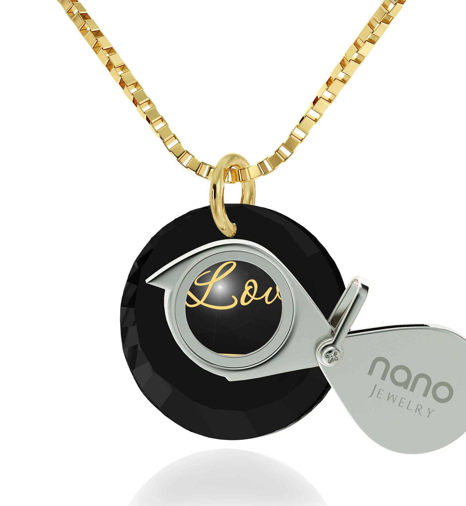 "Best Christmas Present for Wife, 14k Gold Jewelry,""I Love You Infinity"", Good Gifts For Girlfriend, Nano"