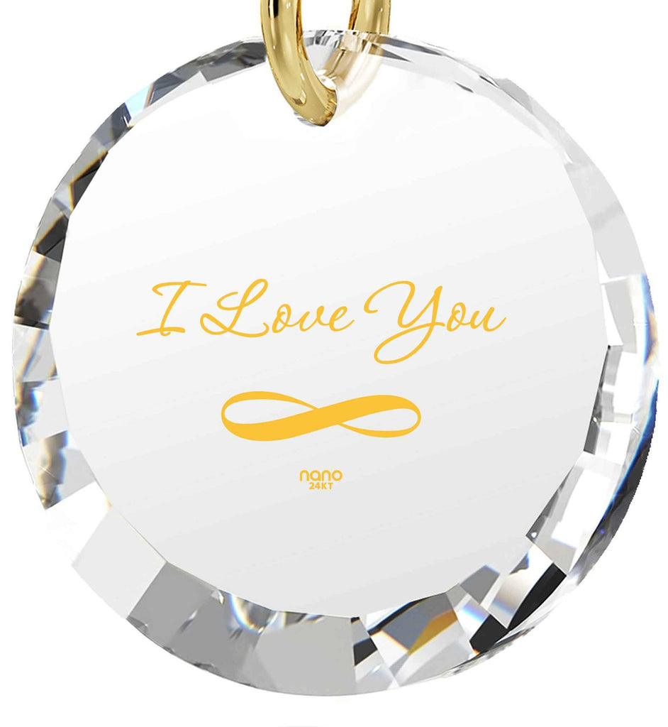 "Good Valentines Day Gifts for Girlfriend,""I Love You Infinity"" 24k Imprint, Pure Romance Products, Nano Jewelry"
