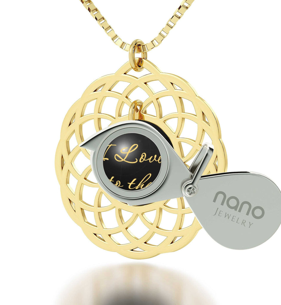 Valentine's Day Gift Ideas for Girlfriend, Gold Filled Mandala, 24k Imprint, Pure Romance Products, Nano Jewelry