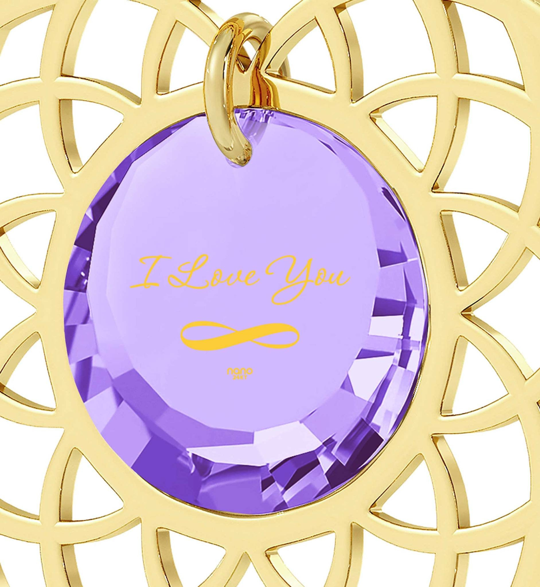 "Best Presents for Girlfriend, ""I Love You Infinity"", 24k Imprint, Pure Romance Products, Nano Jewelry"