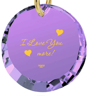 """Birthday Gift for Wife,The Love Necklace, 24k Engraved Jewelry, Present For Girlfriend"""