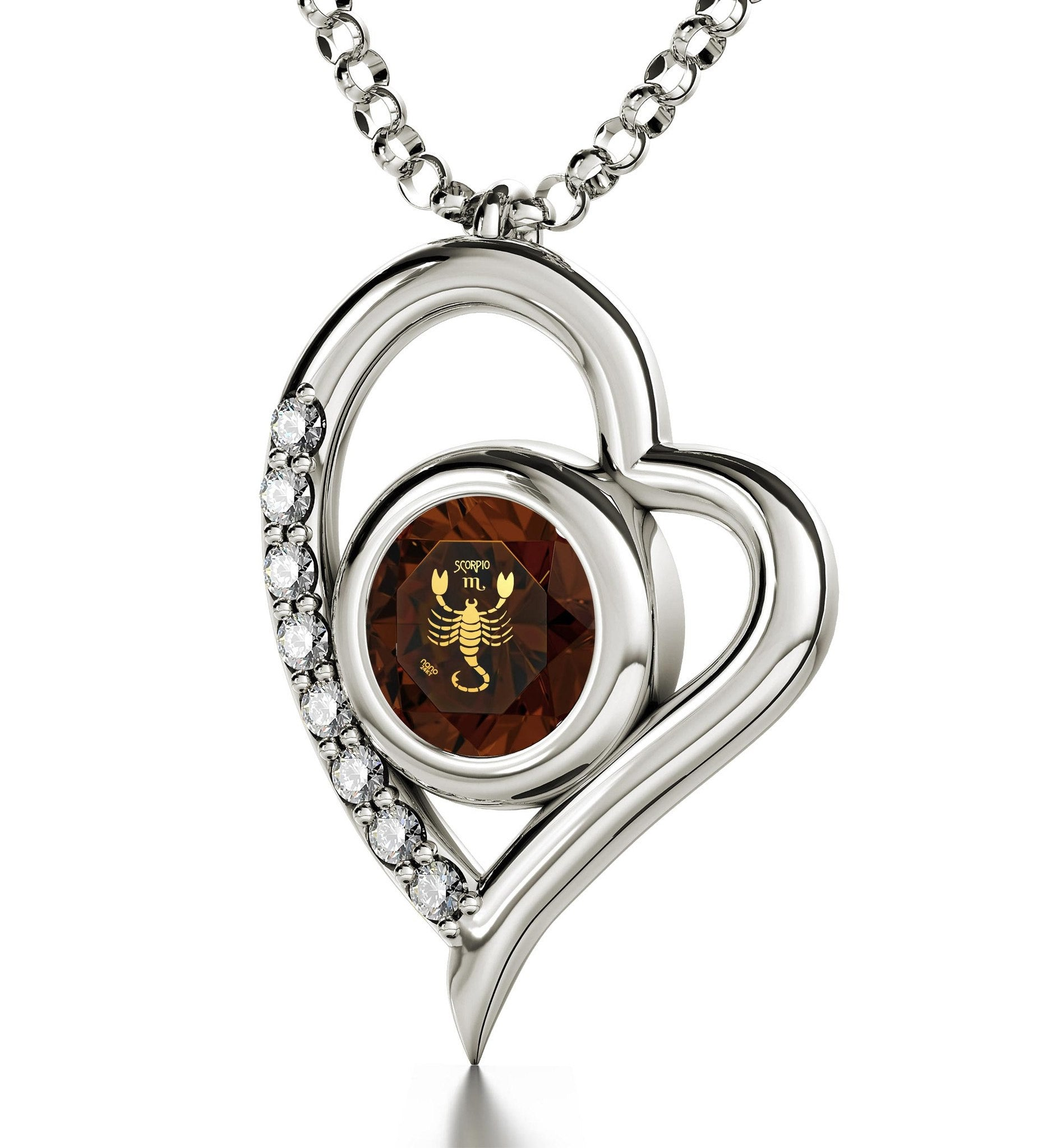 """Scorpio Jewelry: Heart Zircon Pendant, Top Womens Gifts,Best Christmas Present for Girlfriend"""