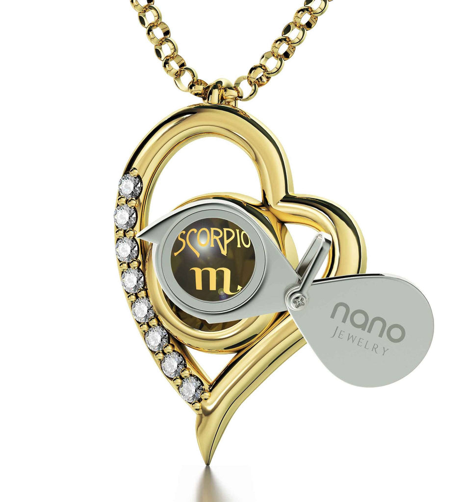"""Scorpio Jewelry: Heart Zircon Pendant, Best Christmas Present for Girlfriend, Top Womens Gifts"""
