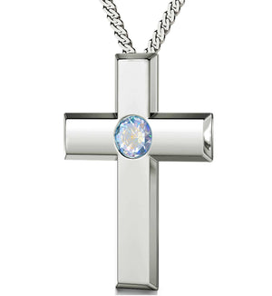 """""Our Father"" in Aramaic, Religious Gifts for Women, Birthday Presents for Mum, Rhodium Jewelry"""