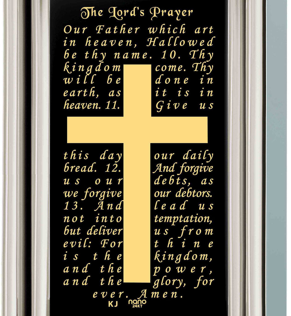 """Our Father: Sterling Silver Cross Pendant, Mens Birthday Present Ideas, Christian Gifts for Men, Nano Jewelry"""