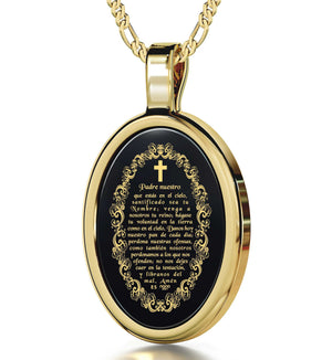"""Prayer Engraved in 24k, Christmas Presents for Sister, Gifts for Best Friend Woman, Nano Jewelry"""