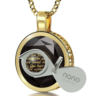 Presents for Moms Birthday, 14k Gold Engraved Necklaces, Mother Gift Ideas, by Nano Jewelry