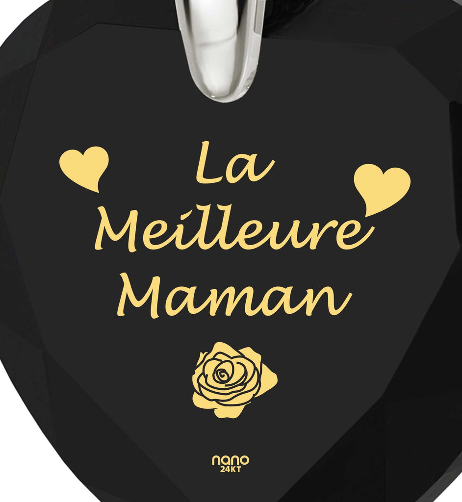 """Presents for Mom Christmas, ""La Meilleure Maman"", Heart Necklaces for Women, Best Gift for Mother's Day by Nano Jewelry"""