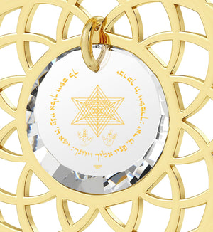"""Priestly Blessing"": Jewish Charms, Judaica Store, Real Gold Necklace, Nano Jewelry"