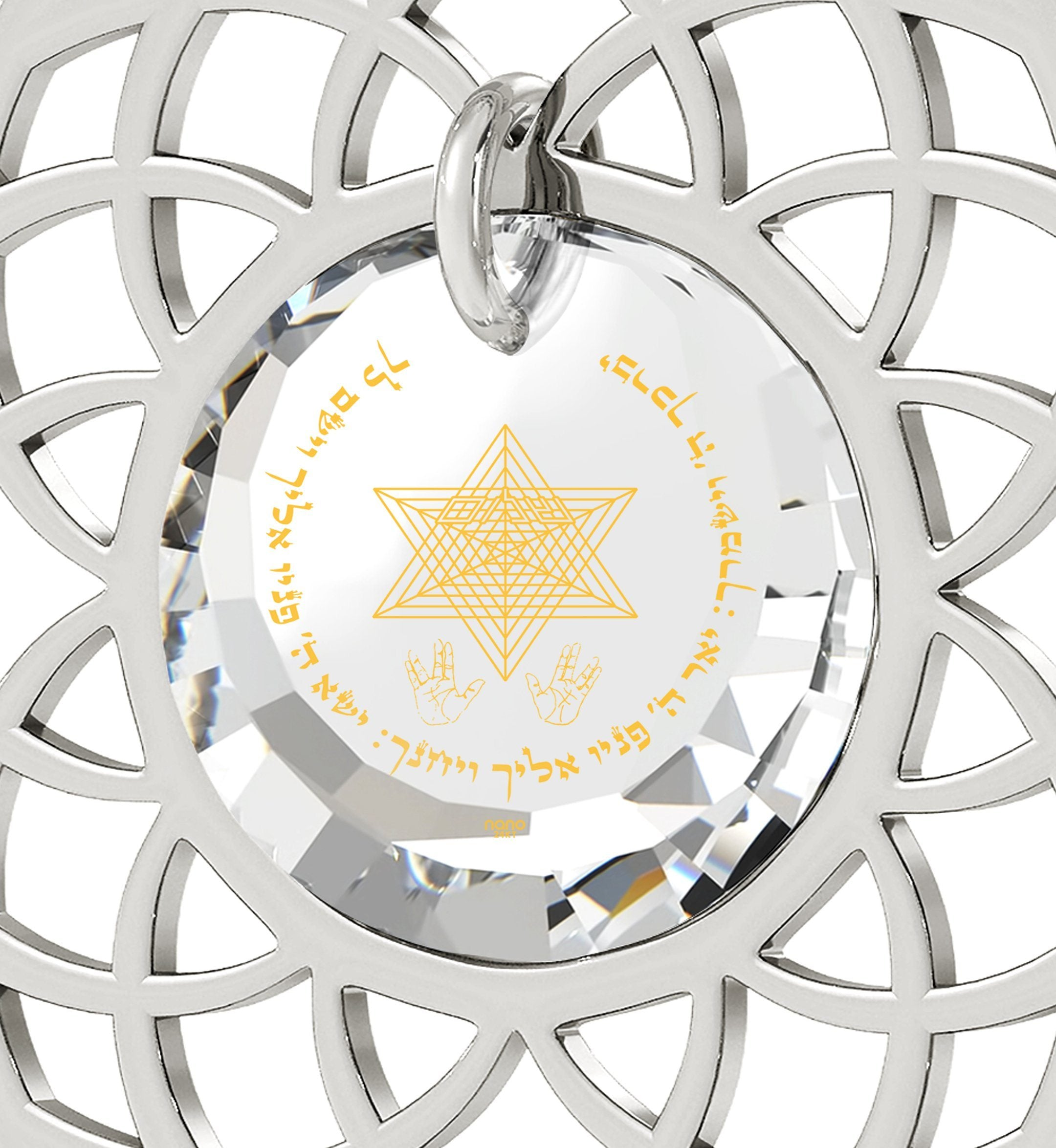 """Priestly Blessing"": Jewish Charms, Judaica Store, Real Sterling Silver Necklace, Nano Jewelry"