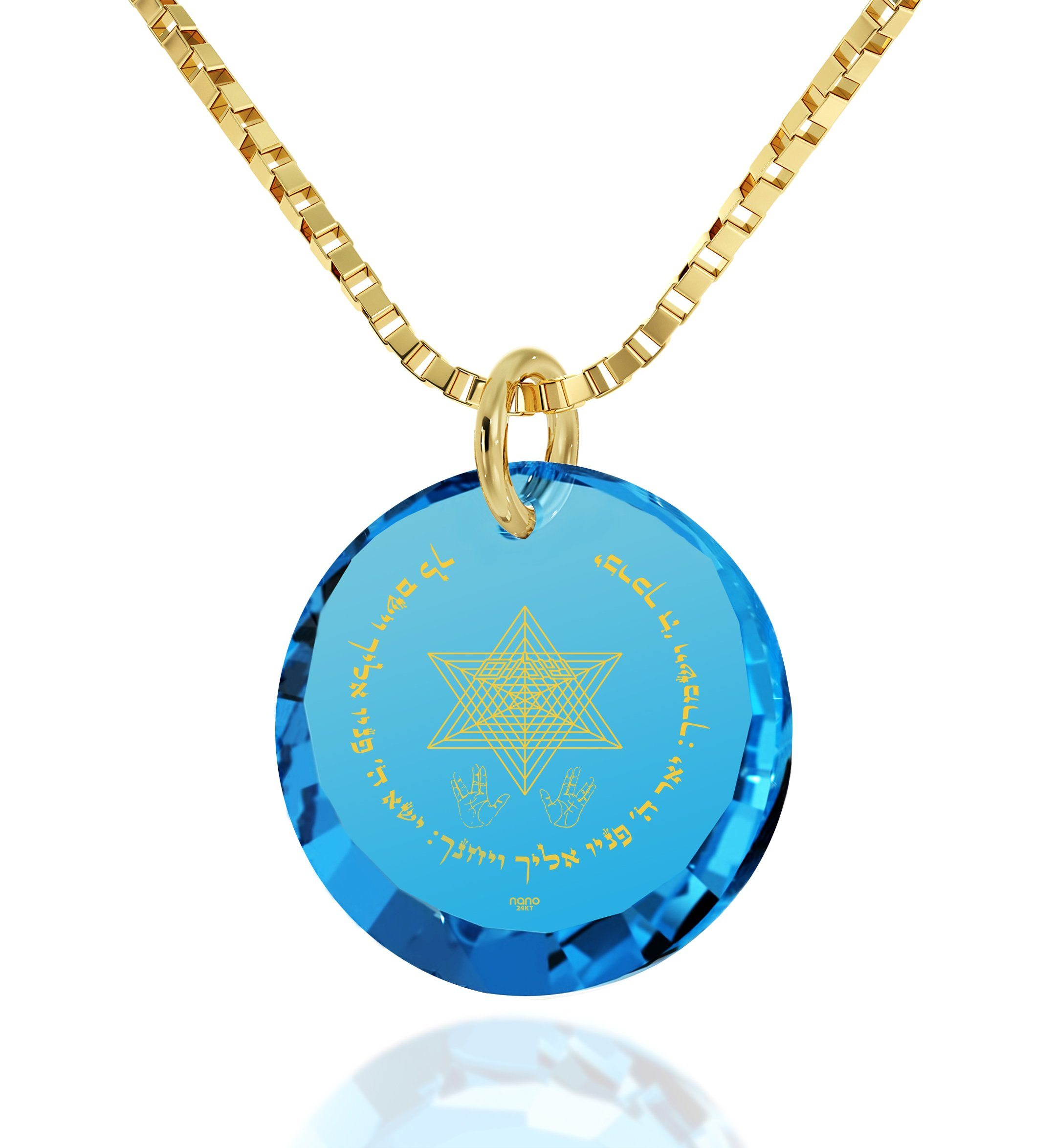 """Priestly Blessing"": Jewish Gifts, Birthday Surprises for Her, Real Gold Necklace Nano Jewelry"