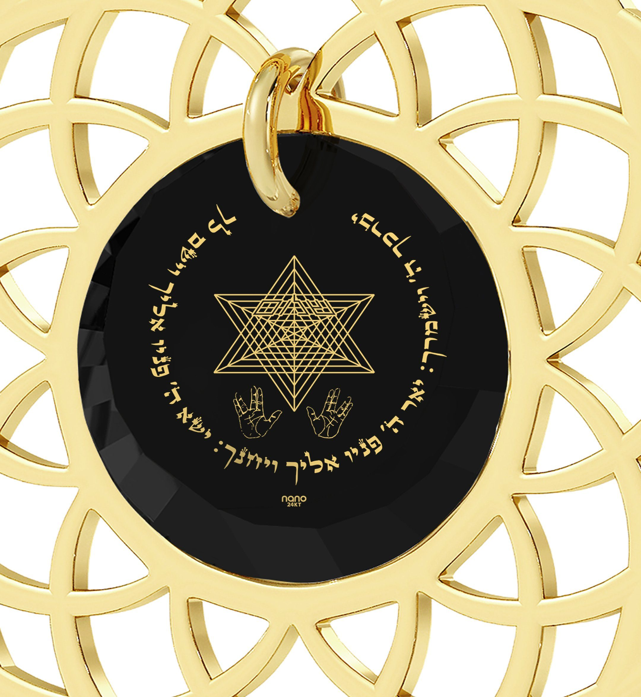 """Priestly Blessing"": Jewish Gifts, Girlfriend Christmas Ideas, CZ Jewellery, Nano Jewelry"