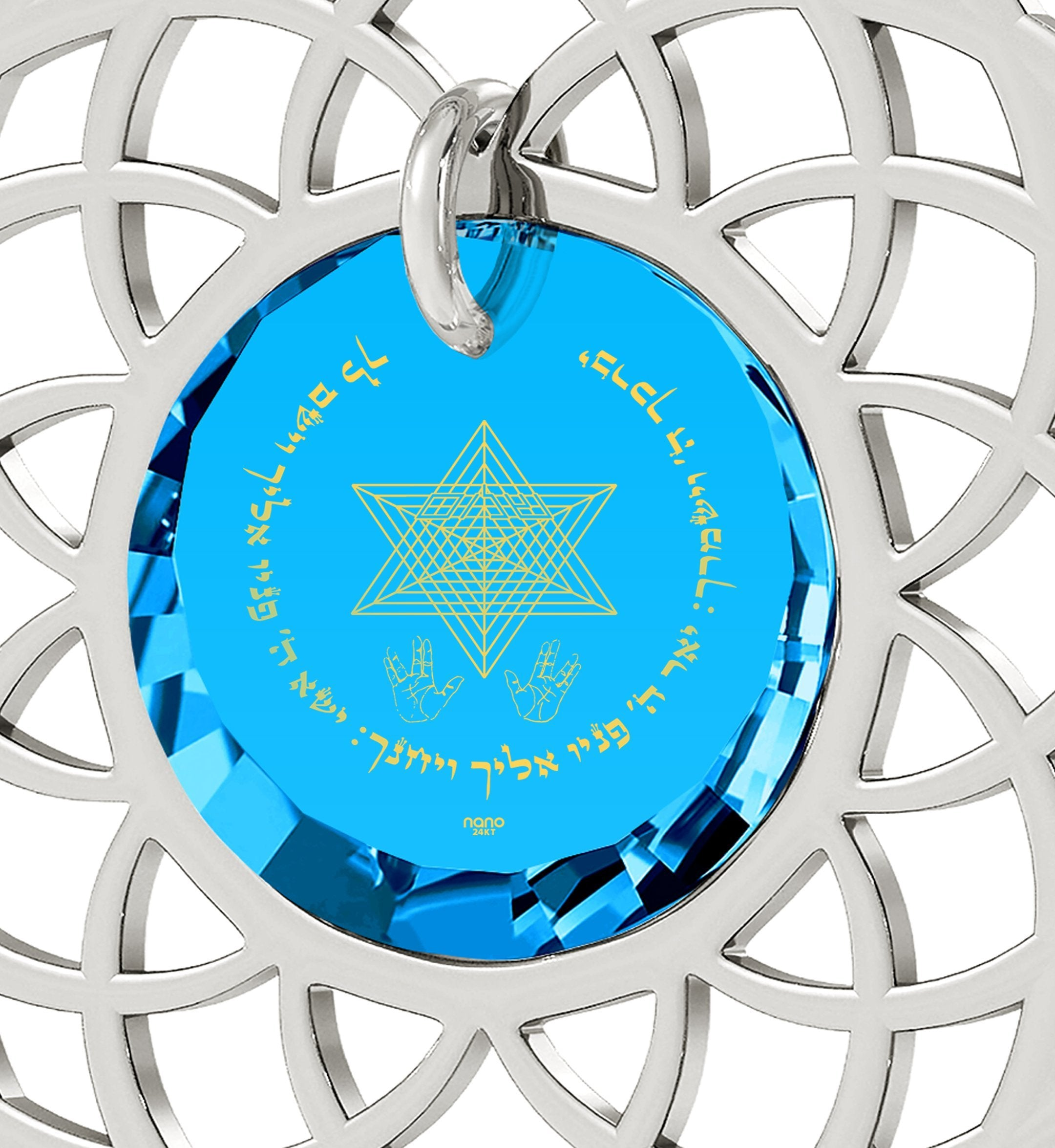 """Priestly Blessing"": Jewish Gifts, What to Get Girlfriend for Christmas, Blue Stone Jewellery, Nano Jewelry"