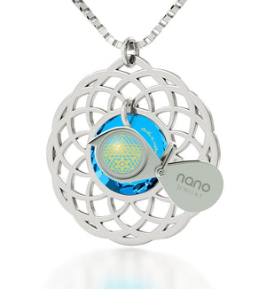 """Priestly Blessing"": Jewish Necklace, Judaica Store, Blue Stone Jewellery, Nano Jewelry"