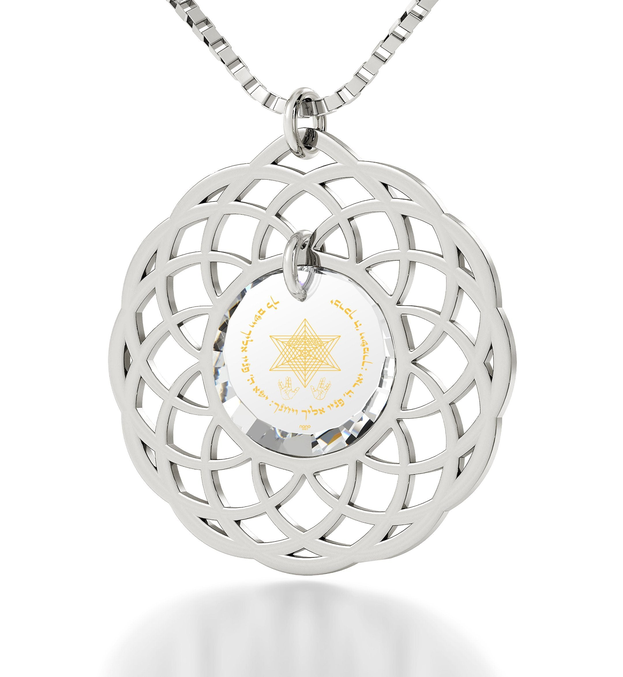 """Priestly Blessing"": Jewish Pendant, What to Get Girlfriend for Christmas, CZ Jewellery, Nano Jewelry"