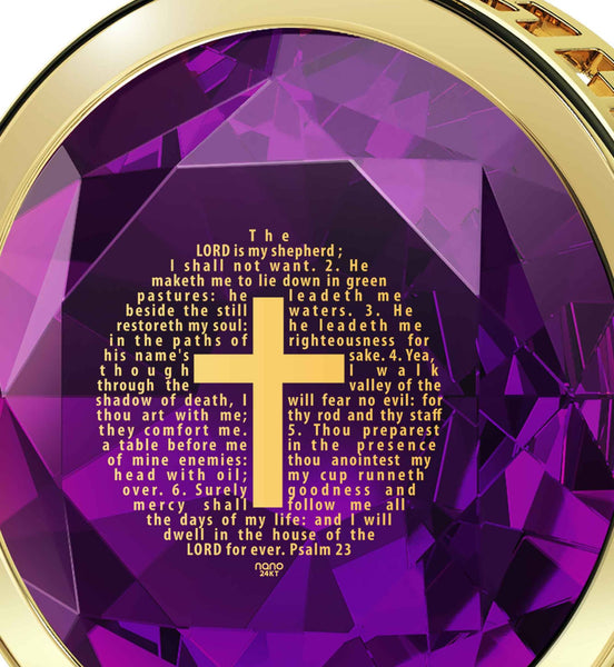 """Psalm 23 Engraved in 24k: What to Get Boyfriend for Birthday, Christian Gifts for Men, Nano Jewelry"""