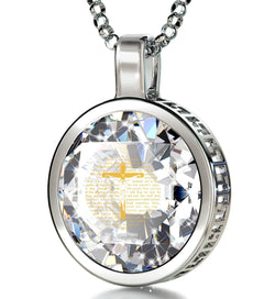 """Psalm23EngravedinPendant, BirthdayPresent for BestFriend, Gifts for Graduates CZ Jewellery"""