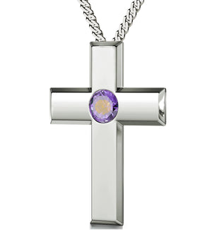 """Psalm 23 in French: Birthday Present Ideas for Girlfriend, Top Gifts for Mom, Real Sterling Silver Cross Necklace"""