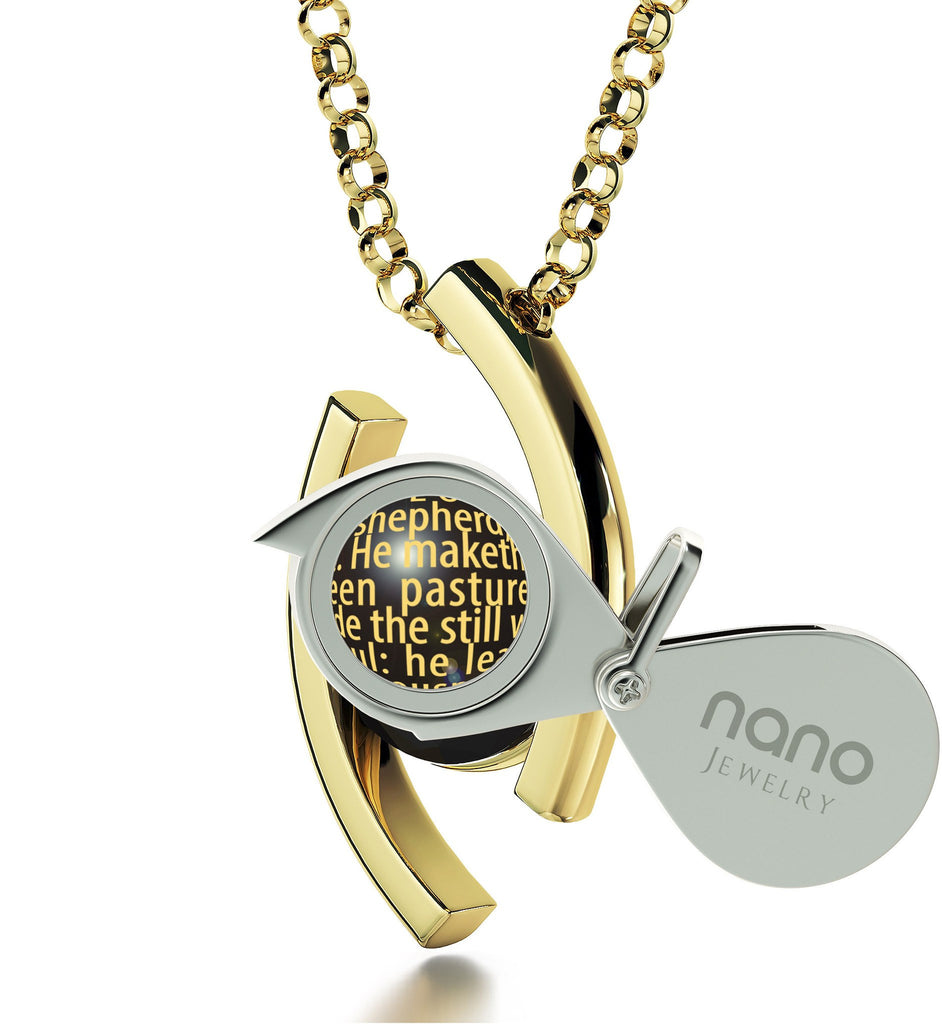 """Psalm23Engraved in 24k: What to GetMyMom for HerBirthday, GoodGifts for GirlfriendChristmas, NanoJewelry"""