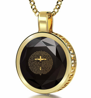 """Psalm91Engravedin24k, ChristmasPresents for Parents, GrandmaNecklace, CZ Jewellery, NanoJewelry"""