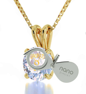 """What to GetGirlfriend for Christmas:ZodiacSignJewelry,WhiteStoneNecklace,ValentineGift for Wife by Nano"""