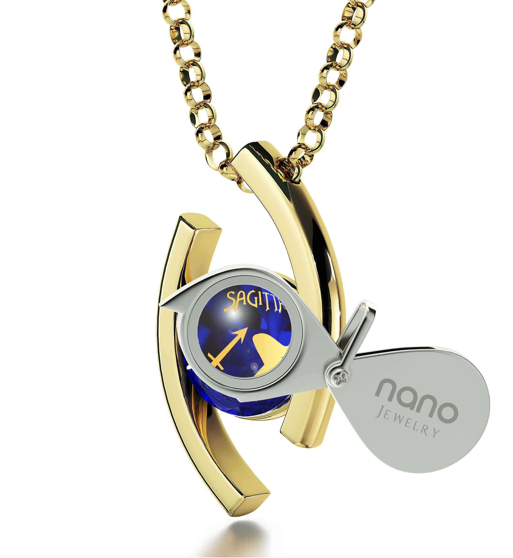 Sagittarius Jewelry With Zodiac Imprint, Mother's Day Gifts From Husband, What to Get Her for Christmas, by Nano