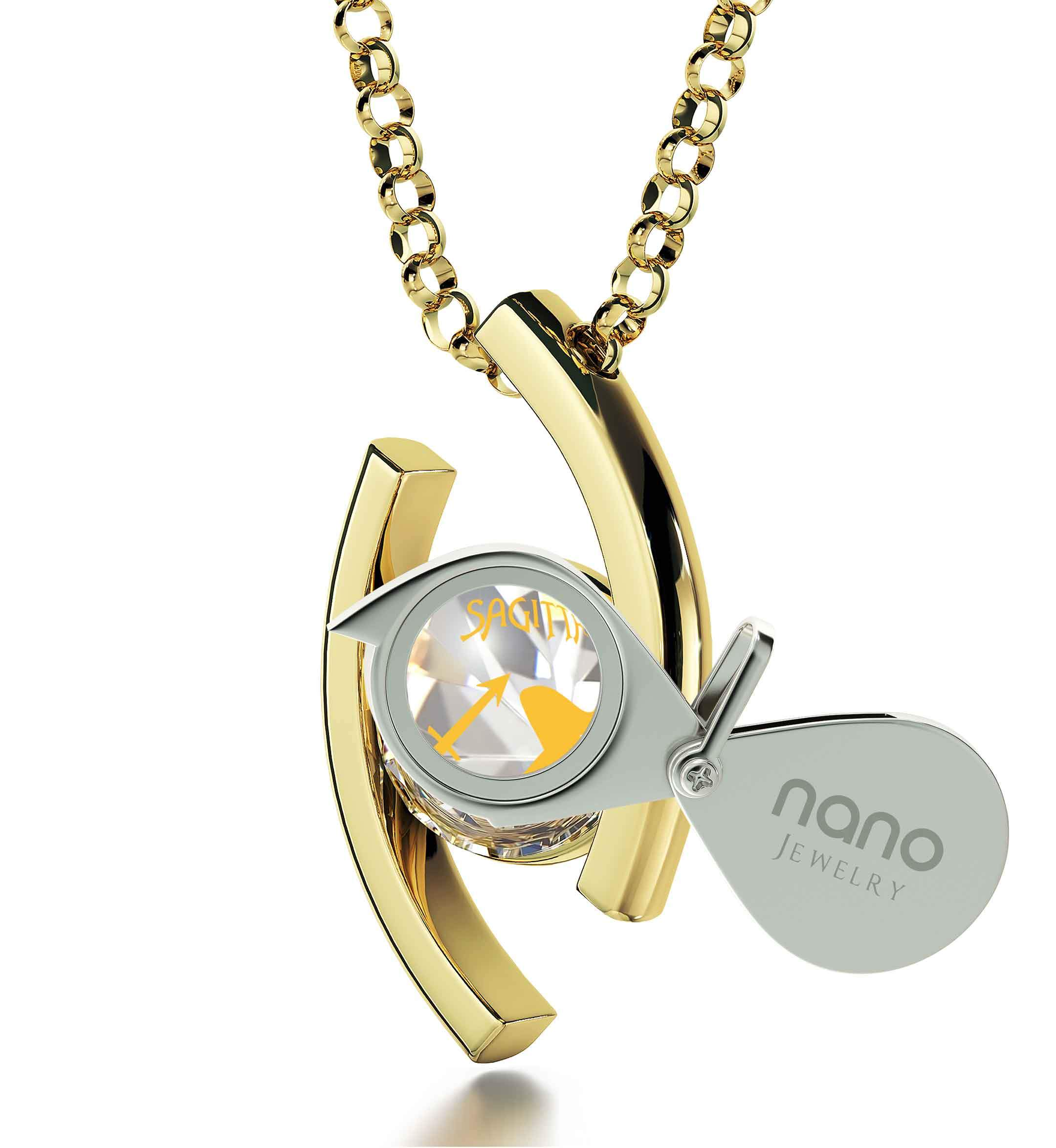 Sagittarius Jewelry With Zodiac Imprint, What to Buy My Girlfriend for Christmas, Valentine Necklace for Her, by Nano