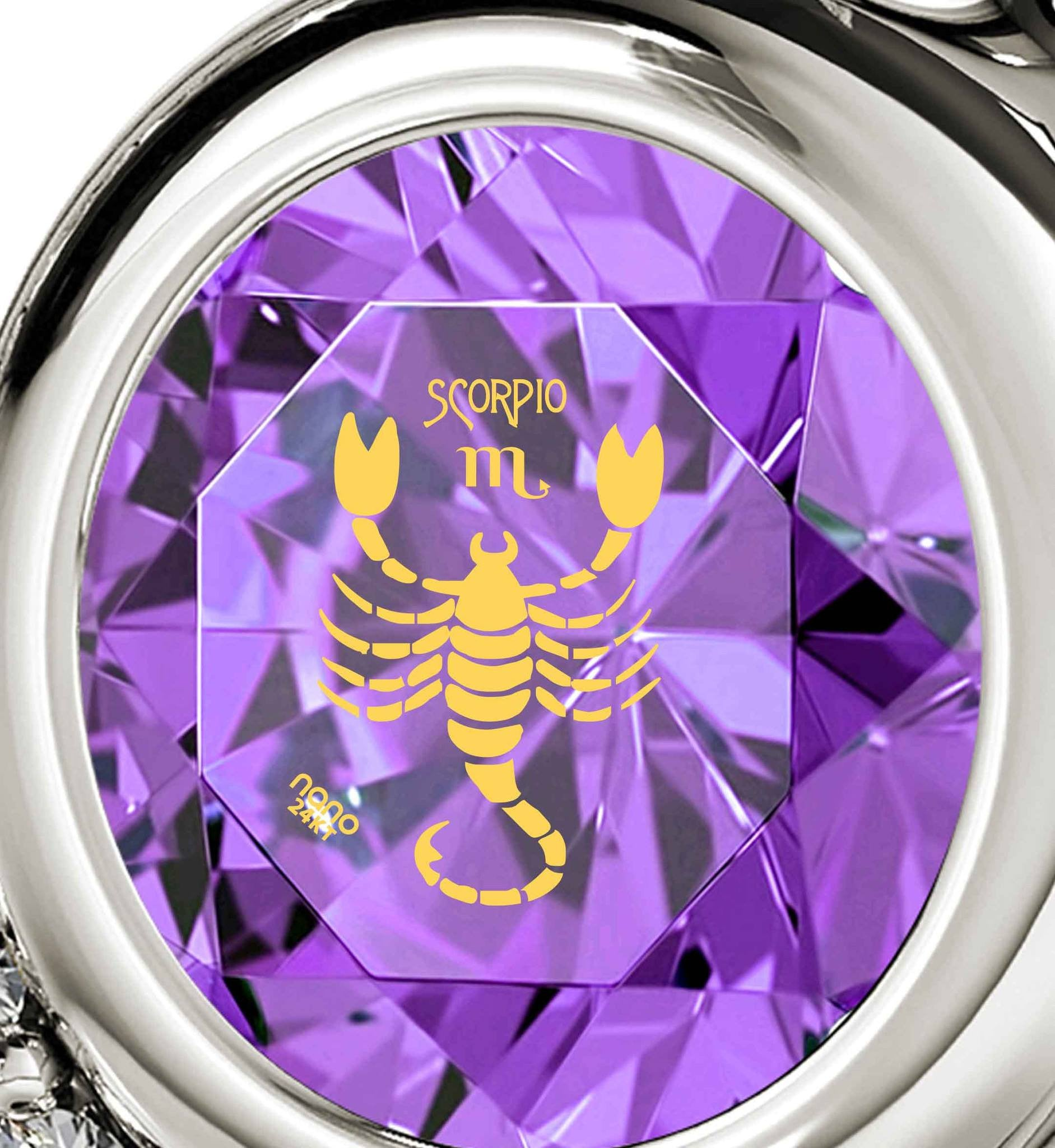 """Scorpio Sign Pendant, Fine 14k White Gold Jewelry, What to Get My Wife for Christmas,Unusual Valentines Giftsby Nano"""
