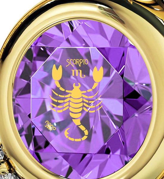 """Scorpio Sign Pendant, Fine Gold Jewelry, Unusual Valentines Gifts, What to Get My Wife for Christmas by Nano"""