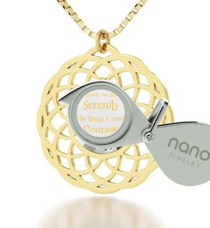 Serenity Jewelry: What to Get Girlfriend for Birthday, Womans Gifts, Real Gold Necklace, Nano Jewelry