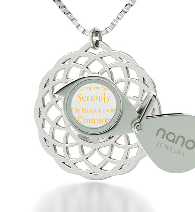 Serenity Jewelry: What to Get Girlfriend for Birthday, Womans Gifts, Real Sterling Silver Necklace, Nano Jewelry